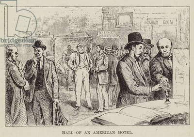 Hall of an American Hotel (engraving)