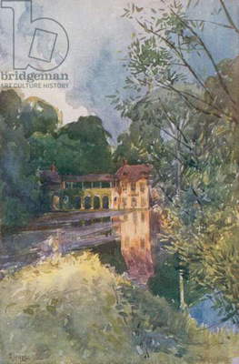 Hamlet of the Petit Trianon, Versailles (colour litho)