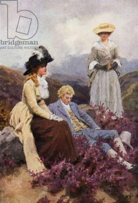 Illustration for Wuthering Heights by Emily Bronte (colour litho)