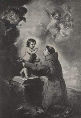 The Vision of St Anthony of Padua (engraving)