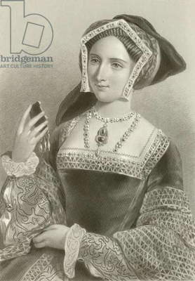 Jane Seymour, 3rd wife of king Henry VIII (engraving)