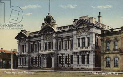 Town Hall and Theatre, Invercargill, New Zealand (coloured photo)