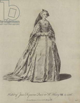 Habit of Jane Seymour Queen to King Henry VIII in 1536 (engraving)