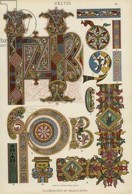 Celtic, Illumination of Manuscripts (colour litho)
