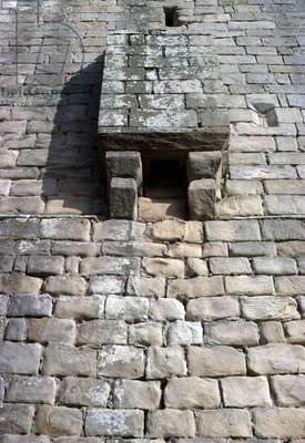 Garderobe dating from 1370-90, Chipchase Castle, Northumberland, England (photo)