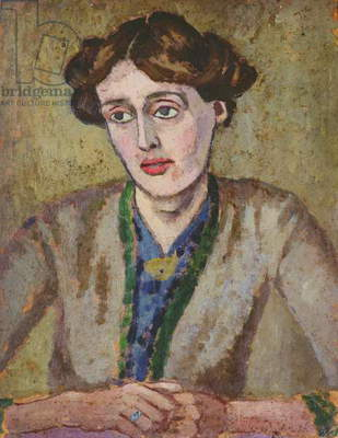 Virginia Woolf (1882-1941) (oil on board)