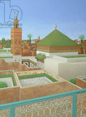Rooftops, Marrakech (acrylic on linen)