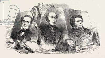 The Newly Elected Royal Academicians: Sir J.W. Gordon, Mr. Redgrave, Mr. Creswick, 1851 Engraving