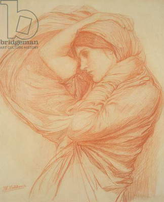 Study for 'Boreas' (red chalk on tinted paper)