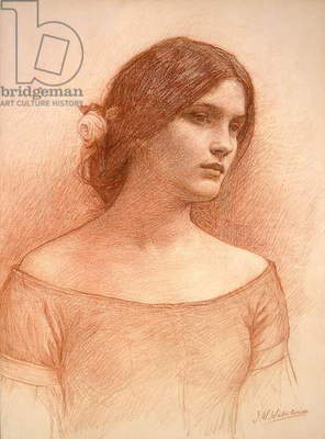 Study for 'The Lady Clare', c.1900 (red chalk on paper) (see 55018)