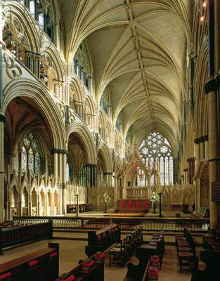 Lincoln Cathedral (1185–1311), Angel Choir (1256-80),Lincolnshire, UK (photo)