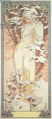 The Seasons: Winter, 1900 (colour litho)