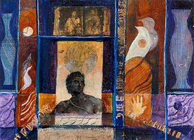 Greek Legends, 2012 (acrylic and collage on canvas)