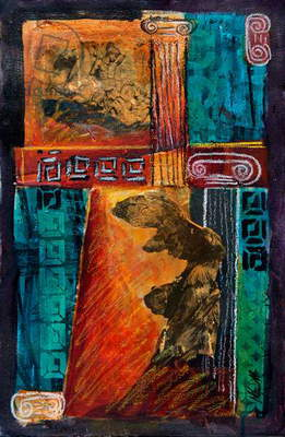 Into Antiquity, 2012 (acrylic on canvas)