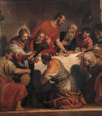 Last Supper (Ultima Cena), by Paolo Caliari known as Veronese, 16th Century, oil on canvas, 220 x 523 cm