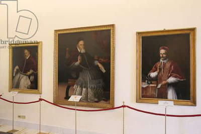 Portraits at the Papal Portraits Gallery in the Apostolic Palace, Castel Gandolfo, Italy (photo)