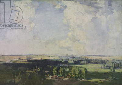 Amiens, the key of the west, 1928 (oil on canvas)