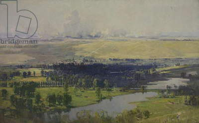 The Somme Valley near Corbie, 1919 (oil on canvas)