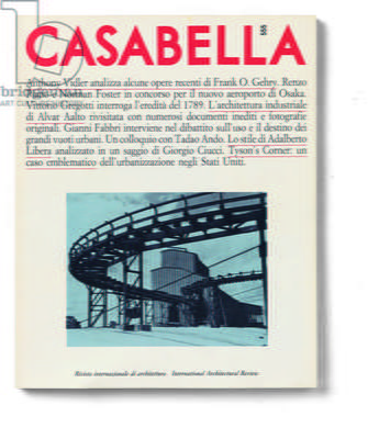 Cover of Casabella, N. 555, March 1989, 20th Century, graphic, 31 x 28 cm