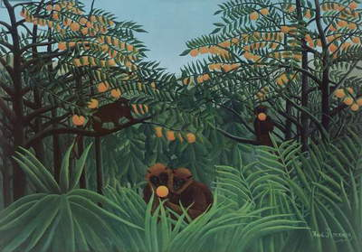 Monkeys in the Jungle, 1910 (oil on canvas)