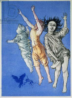 Flying Children, edition of 50, 1992 (etching and aquatint)