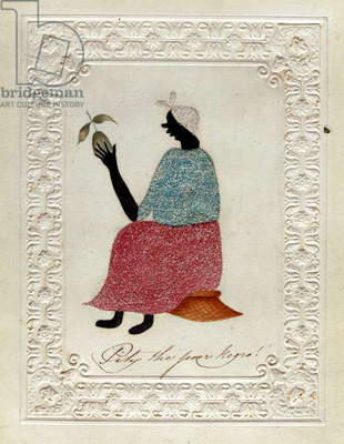 'Pity the Poor Negro!', c.1827 (w/c on paper and prickwork)