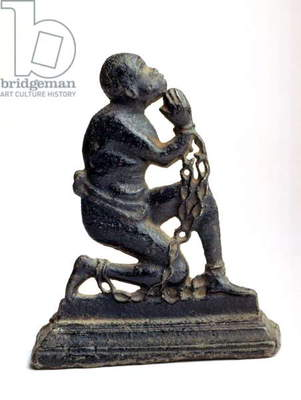 Figure of a negro slave kneeling, c.1790 (iron)
