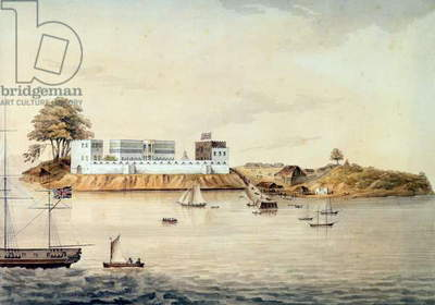 Bance Island, River Sierra Leone, Coast of Africa, Perspective Point at 1, c.1805 (w/c on artists' paper)