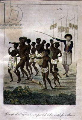 Group of Negros, As Imported to be Sold for Slaves, engraved by Blake (etching, engraving and aquatint)