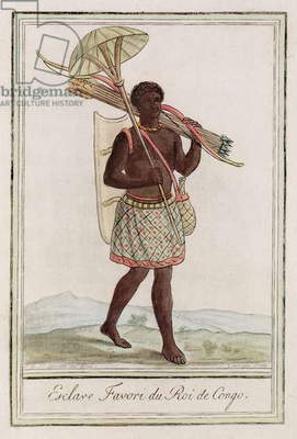 The King of Congo's Favourite Slave, engraved by J. Laroque, c.1770 (hand-coloured engraving)