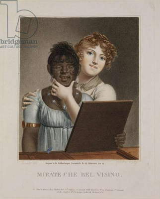 Look, What a Pretty Face, 1803 (colour engraving)