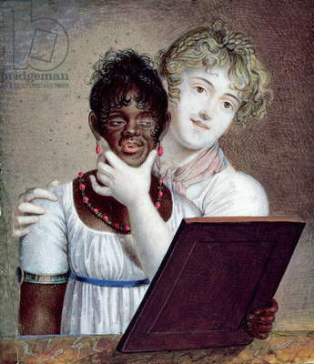 Slave with her Mistress, c.1820 (w/c on ivory)