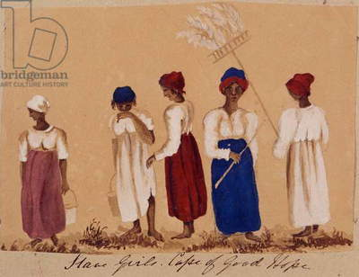 Slave Girls from the Cape of Good Hope, c.1830 (w/c and pencil on paper)