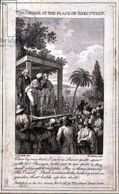 The Negroe at the Place of Execution, engraved by William Skelton, 1787 (engraving)