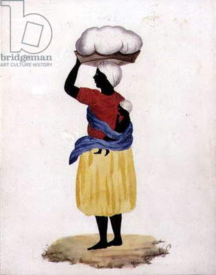 Slave Carrying a Child on her Back, c.1827 (w/c on watermarked paper and prickwork)