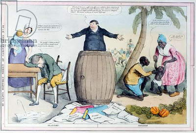 McClean's Monthly Sheet of Caricatures, Number 32, published c.1830 (colour litho) (photo)