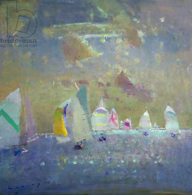 Fowey Regatta (oil on board)