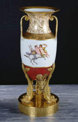 Samovar from the First Empire Era, 1804-14 (gilded porcelain & bronze)