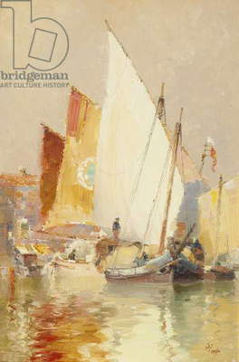 Fishing boats, Venice, 1896 (oil on canvas)