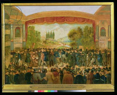 American theatre, Bowery, New York, depicting the 57th night of Mr T.D. Jim Crow Rice (1808-60) November 25th, 1833 (oil on canvas)