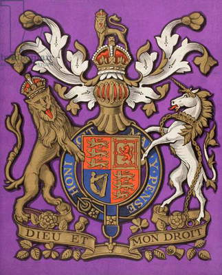 The Front Cover of The Queen The Lady's Newspaper published 1935, showing the Royal coat of arms of the United Kingdom.