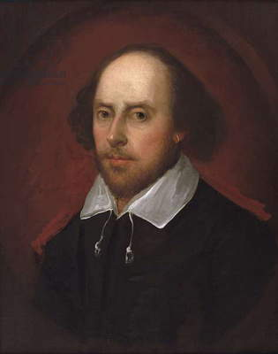 Portrait of William Shakespeare (oil on canvas)