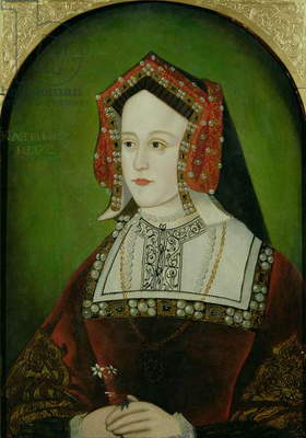 Portrait of Catherine of Aragon (1485-1536) (oil on panel)