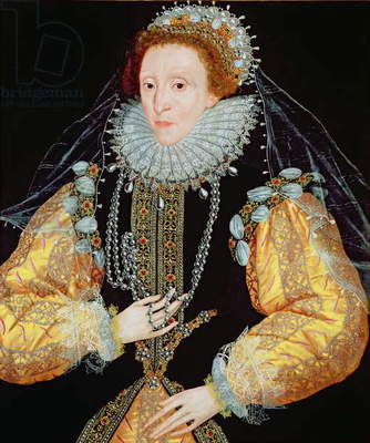 Portrait of Queen Elizabeth I - The Drewe Portrait, late 1580s (oil on panel)
