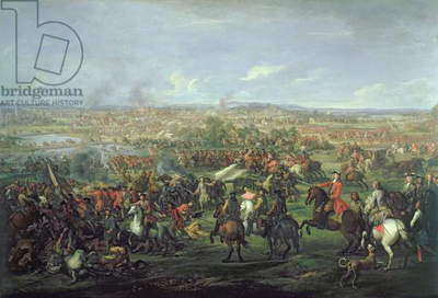 The Battle of Blenheim on the 13th August 1704, c.1743 (oil on canvas) (see 195676 for detail)