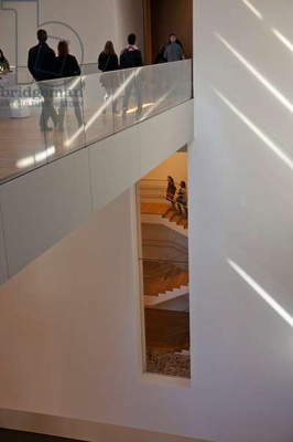 Walkway and stairwell at the Museum of Modern Art (MOMA) in New York, New York