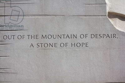 An inscription on the base of the statue of Dr Martin Luther King, Jr (photo)