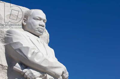 Thirty-foot-high white granite statue Dr Martin Luther King, Jr (photo)
