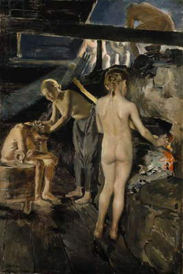 In the Sauna, 1889 (oil on canvas)