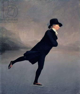 The Reverend Robert Walker skating on Duddingston Loch, 1795 (oil on canvas)